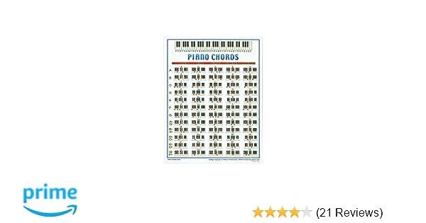 Amazon.com - Walrus Productions Piano Chord Mini Chart - Prints
