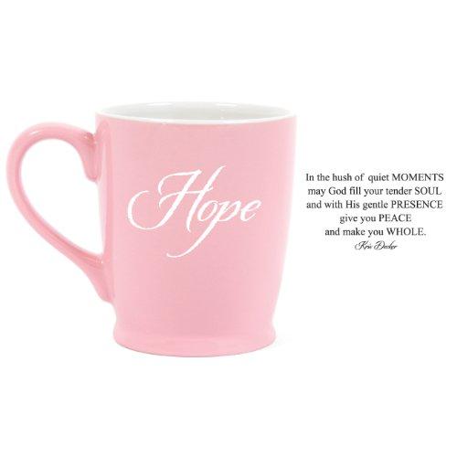 (Hope Pink Breast Cancer Awareness 16 oz. Stoneware Coffee Mug)