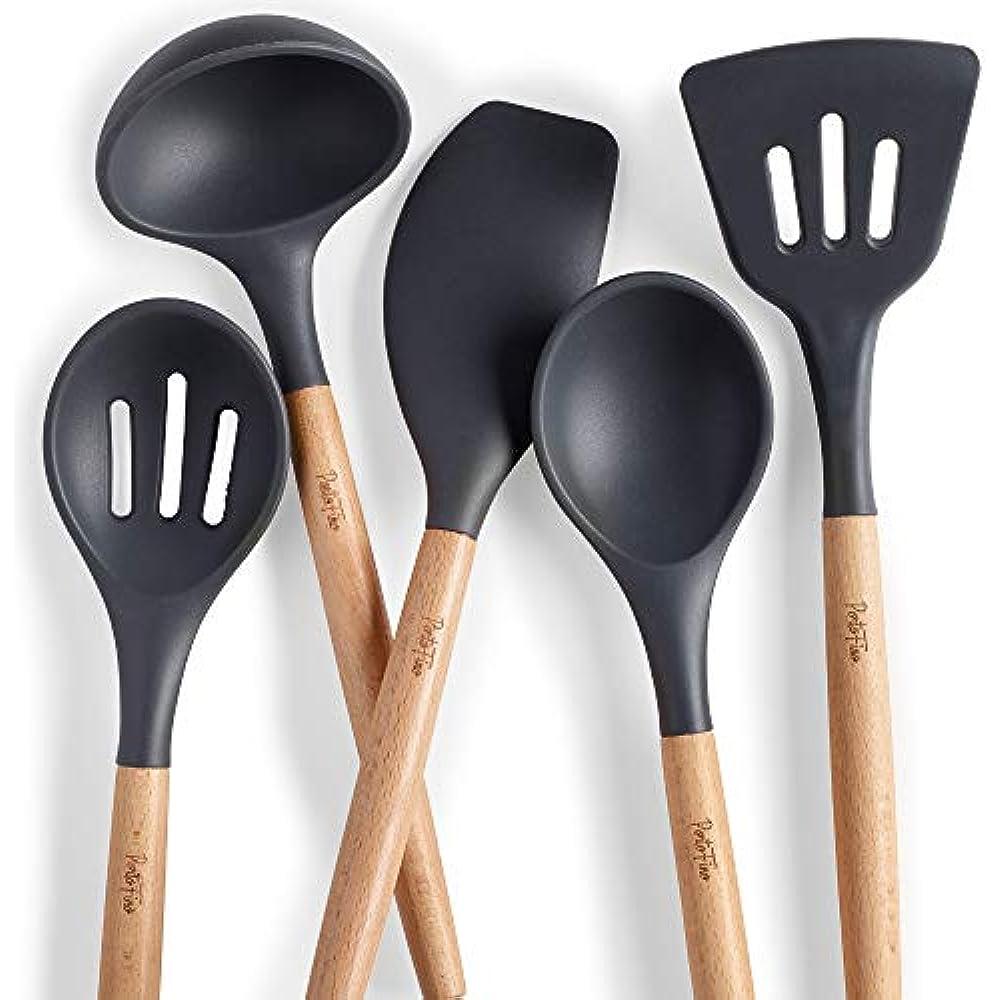 Portofino Utensil Sets 5 Pc Kitchen Set Premium Natural