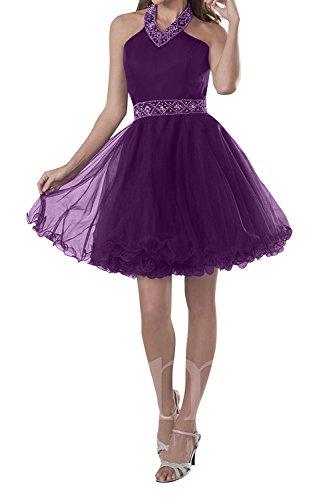 Prinzess Damen Rock Festlichkleider Brau Cocktailkleider Perlen A Lila Abendkleider Mini Kurzes mia Promkleider Linie La wOfxvXpqx
