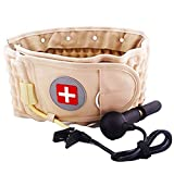 Spinal Decompression Back Belt & Lumbar Traction Device & Low Back Brace for Lower Back Pain for Men Women, One Size for 29-49 Waist