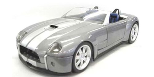 2004 Shelby Cobra Concept diecast model car 1:18 scale die cast by Hot Wheels - Dark Silver