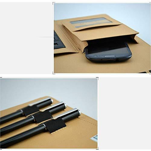 Goodjobb Multi-Function Manager Folder with Calculator Business Document Holder Travel Folder,Brown by Goodjobb (Image #2)