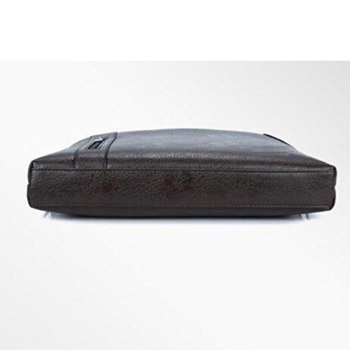 Caballero Distinguido Temperamental Business Casual Bolso De Hombro Inclinado Bolsa Cuadrada Multicolor Bolso Black