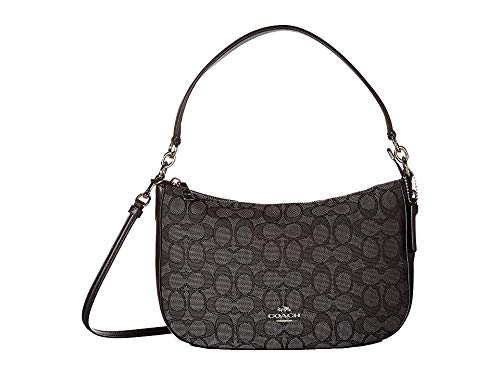 COACH Women's Chelsea Crossbody Sv/Black Smoke/Black One Size (Coach Small Handbags Crossbody)