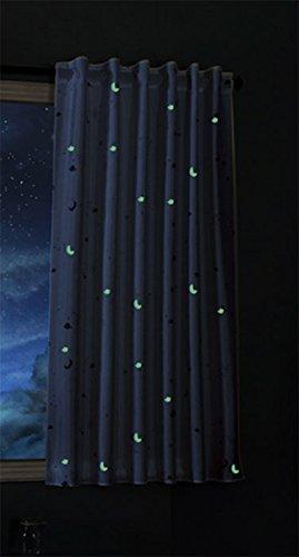 Gardinenbox Vorhang Schal Blickdicht Motiv Sterne Monde