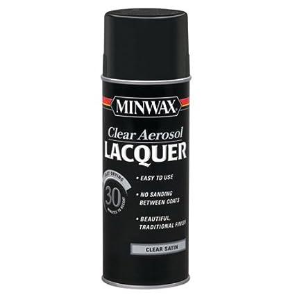 Minwax 15210 Clear Aerosol Lacquer Spray 12 25 Ounce Satin Spray