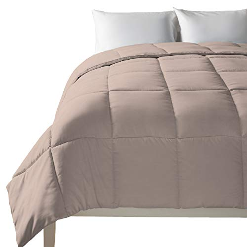down alternative comforter taupe - 9