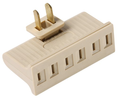 Ivory Adapter (Legrand-Pass & Seymour 69ICC20 Plug in One to Three Outlet Swivel Adaptor, Single Pole Three Wire, Ivory)