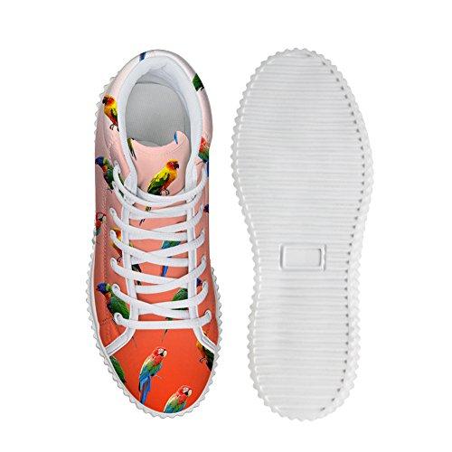 Étreintes Idée Perroquet Modèle Femmes Mode Plate-forme Chaussures Baskets Perroquet 5