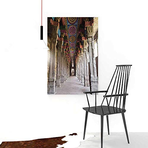 - Auraise-home Painting Living Room Decoration FramelessMouse Pad Unique ed Mousepad Pillar Spiritual Theme Inside of Old MeenakshiTemple in South India for Living Room Office Decor Gift W16 x H24