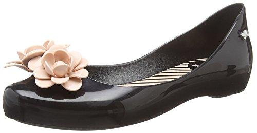 Zaxy Damen Start Blossom Ballerinas, Black (Black Contrast), 39 EU