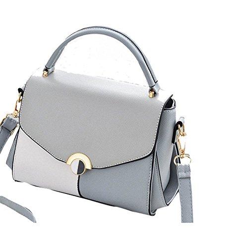 Borse Moda Elegante Delle Top Pu grigio Donne Tracolla Progettazione Grigio Pelle Handlegs In Tw1qnIAg