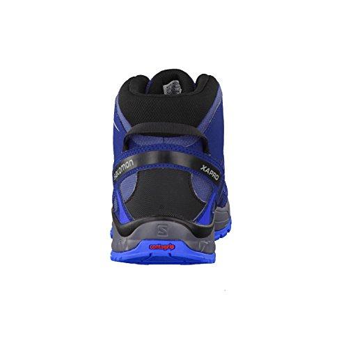 Salomon L39029600, Botas de Senderismo para Niños Azul (Slateblue /         Blue Depth /         Bright Blue)