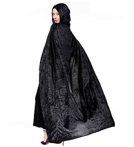 LadyKing Witch Cloak Wizard Cape Dress Up Unisex Cosplay Costumes for Halloween (Witch King Cosplay Costume)