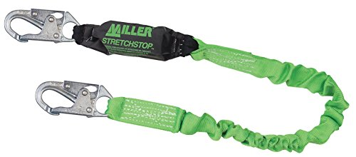 Miller by Honeywell 913SS-Z7/6FTGN Stretchstop Lanyard, Green