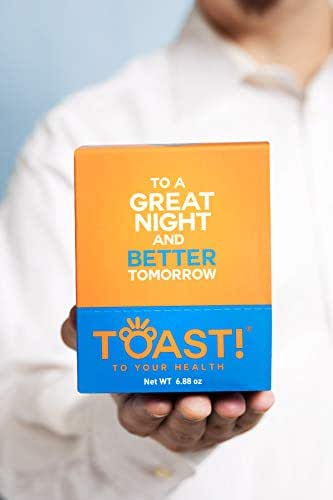 Toast! Before You Drink Gummies Carton (10 Packs) - Best Hangover Cure & Prevention - Morning After Alcohol Recovery & Remedy - Milk Thistle, Prickly Pear, N-Acetyl-Cysteine (NAC) - Free Shipping