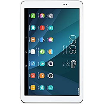 "Huawei MediaPad T1 10.0 Quad Core 9.6"" Android (KitKat) +EMUI Tablet 8GB, Silver/White (US Warranty)"