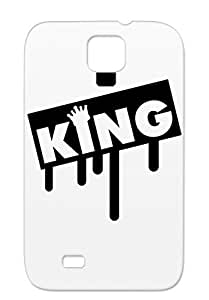 King Like A Boss Funny Crown Satire Game Job PARTY Decoration Winner Office TPU 3 F1 Black For Sumsang Galaxy S4 Cover Case