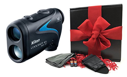 nikon-coolshot-40i-gift-box-bundle-golf-laser-rangefinder-magnetic-cart-mount-playbetter-microfiber-