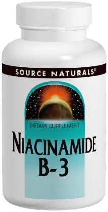 Source Naturals Niacinamide Vitamin B-3 100mg, 250 Tablets Pack of 3