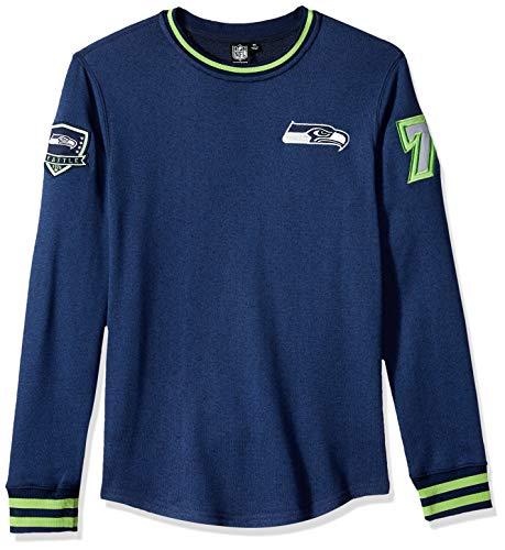 ICER Brands Men's Standard Fleece Sweatshirt Long Sleeve Shirt Rib Stripe, Team Color, Navy, X-Large ()