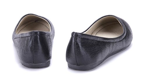 Schuhtempel24 Damen Schuhe Klassische Ballerinas Schwarz Flach 0QmiE3k