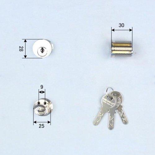 Ohshima(オーシマ) 東洋シャッター Nikaba製 高性能シリンダー錠 ネジコミ型用 キー3本付属 鍵 交換 取替え Nikabaディンプルキー仕様 OHS /OSK /Oshima B01I2GR6T6