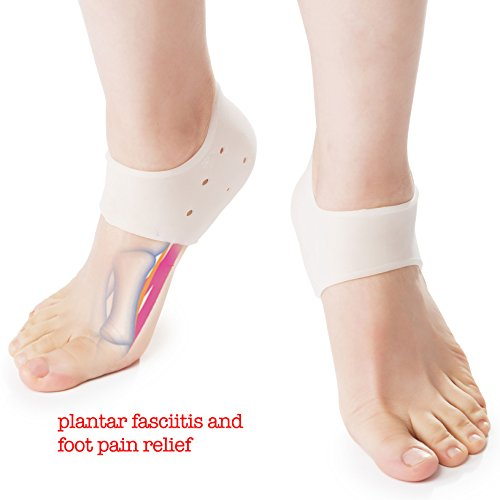 DR JK Plantar Fasciitis, Heel Pads PedPal Kit, 1 Pair Plantar Fasciitis Sleeve with a Massage Ball, Foot Arch Support, Foot massager, Heel Grips, Ankle Support, Relieve Foot Pain and Metatarsal Pain