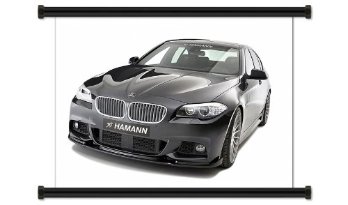 """BMW 5 Series Fabric Wall Scroll Poster (32"""" X 24"""") Inches"""