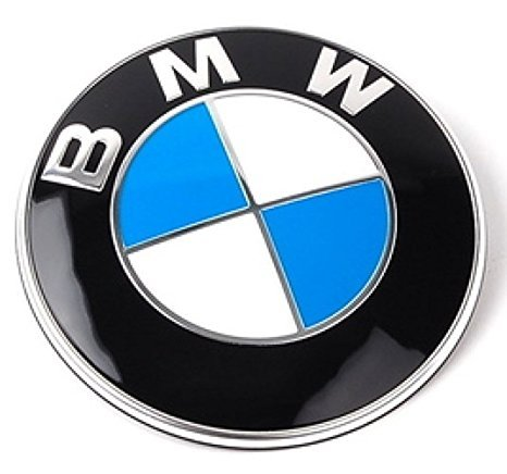 bimmer pw bmw emblem logo replacement for hood trunk 82mm for import it all. Black Bedroom Furniture Sets. Home Design Ideas