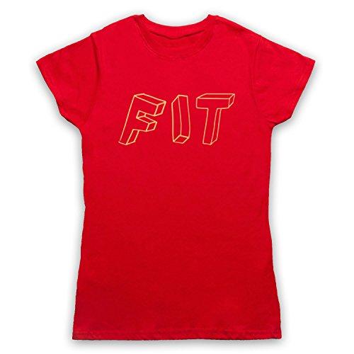 Fit Hipster Camiseta para Mujer Rojo