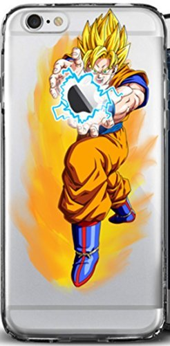 iPhone 6/6s Case, Elite_Cases Ultra Slim Transparent [Dragon Ball Z] Hard Case Cover iPhone 6/6s Plus (5.5) - Kamehameha Wave