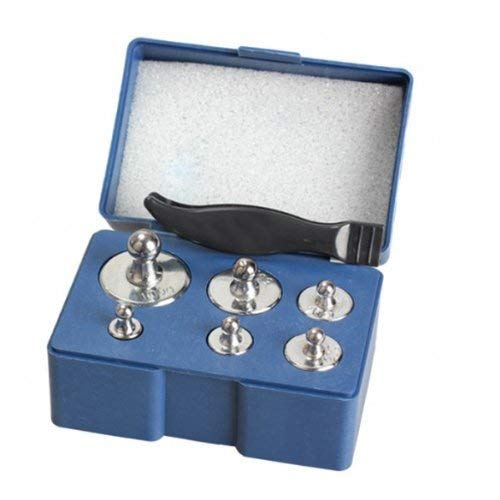 Lvcky 6 pcs 100g 50g 20g 10g 5g Grams Precision Balance Calibration Scale Weight Set Kit