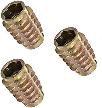 5//16-18 Internal Threads Zinc 5 Sets E-Z Lok Threaded Insert 0.789 Length Hex-Flush