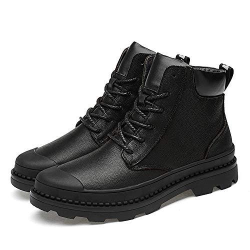 Cordón top Yajie Impermeables boots Opcional Caliente Moda De Del Libre Aire Tobillo Alto Ocasionales Hombres Martin Los terciopelo Negro Al Botas La pZrxTApq
