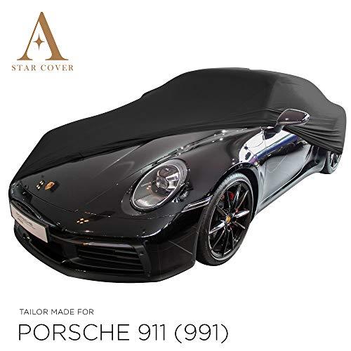 INDOOR AUTOHOES OP MAAT VOOR PORSCHE 911 (991) ZWART GARAGE COVER PERFECTE PASVORM SUPERSNELLE LEVERING