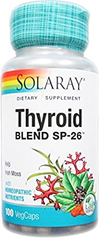 Solaray Thyroid Blend SP-26 VCapsules, 100 Count - Solaray Kelp