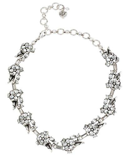 Betsey Johnson Something New Crystal Flower Collar ()