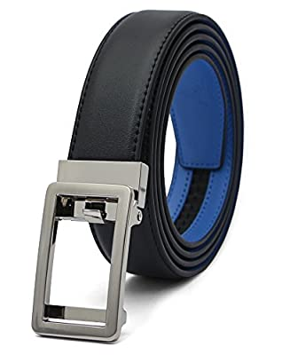 """AOG DESIGN Genuine Leather Dress Belt (1 1/4"""" wide) with Open Automatic Buckle"""