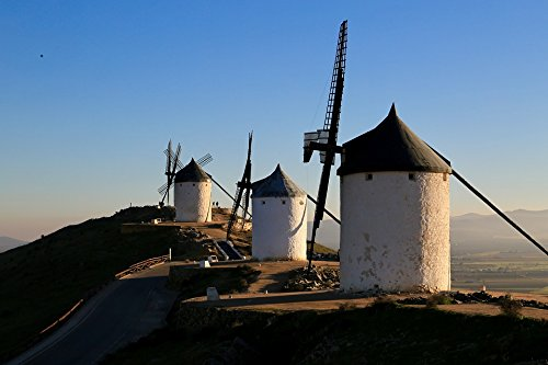 Home Comforts LAMINATED POSTER Spain Windmill Don Quixote Poster 24x16 Adhesive Decal