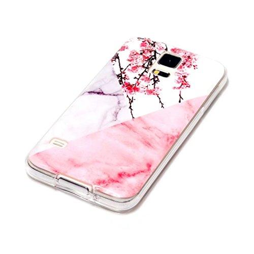 Funda Galaxy S7 Edge Rosa,Galaxy S7 Edge Carcasa Silicona Gel MUTOUREN Case Ultra Delgado TPU Goma Flexible Funda Samsung Galaxy S7 Edge - Colgante unicornio Ciruela rosa