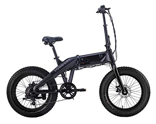 SONDORS Fold X- 500 Watt- 48V - 14 Ah Lithium-ION Battery- 7 Speed derailleur -Up to 60-Mile Range and up to speeds of 20 mph - Folding Electric Bike. - Bike Fold Tire
