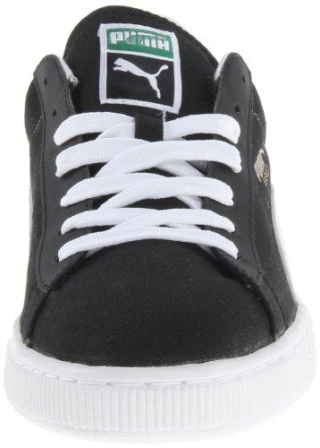 Puma Menns Kurv Klassisk Lerret Sneaker Svart / Hvit