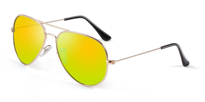 Bertha Classic Aviator Metal Polarized Sunglasses Men Women 3025 Bright Lens