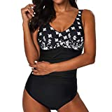 Duseedik Womens One-Piece Swimsuit Swimming Costume Padded Swimsuit Monokini Push Up Bikini Sets Swimwear
