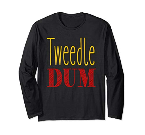 Tweedle Dum T-Shirt Halloween Costume Long Sleeve -