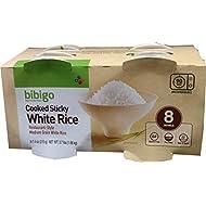 bibigo Restaurant-Style Cooked Sticky White Rice, 8 - 7.4-ounce Bowls
