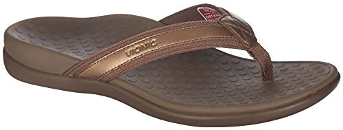 Vionic Women's Tide II Bronze Metallic Sandal 7 Medium