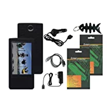 iShoppingdeals - Premium Accessory Bundle Combo for Sony Bloggie Touch (MHS-TS20/MHS-TS10) 4GB 8GB: Black Skin Case Cover, USB Data Cable, Car Charger, Travel / AC Charger, Screen Protector, and Smart Cord Wrap